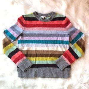 GAP Lambswool Crazy Stripes Sweater, Size M.